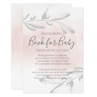 Tarjeta Libro rosado único de la fiesta de bienvenida al