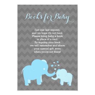 Tarjeta Libros del elefante para el gris azul del parte