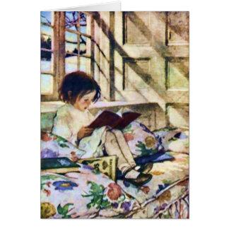 Tarjeta Libros ilustrados en invierno de Jessie Willcox