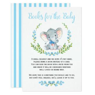 Tarjeta Libros lindos del elefante del muchacho para la
