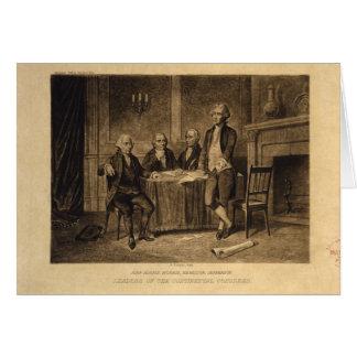 Tarjeta Líderes del congreso continental de A. Tholey