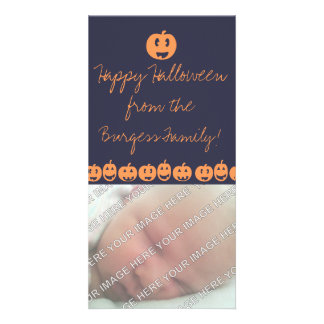 Tarjeta linda de la foto de Halloween de la