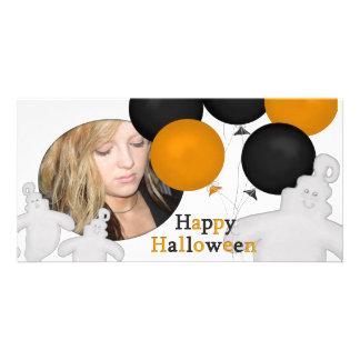 Tarjeta linda de la foto de Halloween del fantasma Tarjeta Fotográfica Personalizada