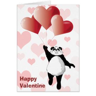 Tarjeta linda de la panda y de la tarjeta del día