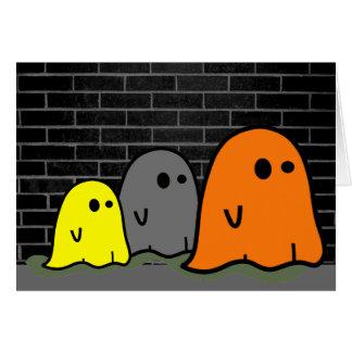 Tarjeta linda de los fantasmas de Halloween
