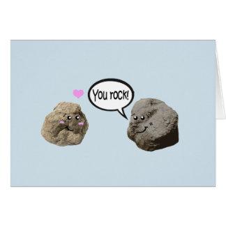 Tarjeta linda del amor de la geología