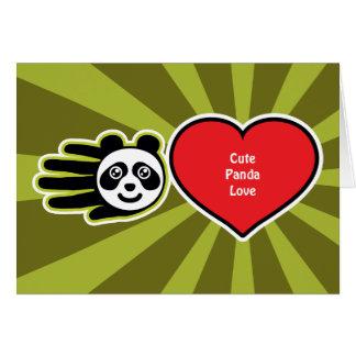 Tarjeta linda del amor de la panda de la tarjeta d