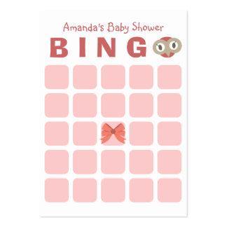 Tarjeta linda del bingo de la fiesta de bienvenida tarjetas de visita grandes