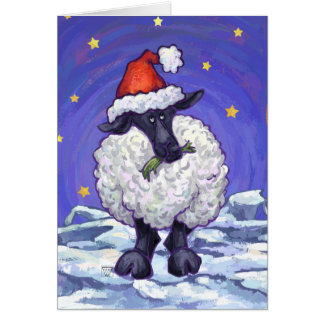 Tarjeta linda del día de fiesta de las ovejas