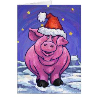 Tarjeta linda del día de fiesta del cerdo