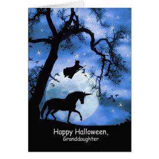 Tarjeta linda estupenda de Halloween de la bruja y
