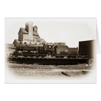 Tarjeta Línea locomotora de Soo en Manitowoc en placa