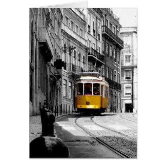 Tarjeta Línea maravillosa 28 de la tranvía en Lisboa