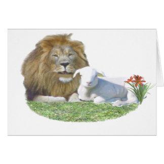Tarjeta lionandlamb