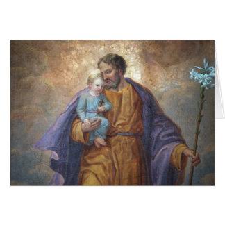 Tarjeta Lirio cruzado de Jesús del bebé de San José