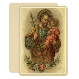 Tarjeta Lirio de Jesús del bebé de San José