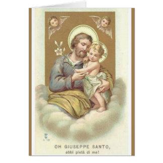 Tarjeta Lirio de los ángeles del DÍA de PADRE de San José