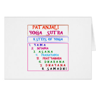 Tarjeta Lista de la compilación de Sutra de la yoga de
