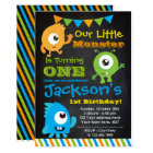Tarjeta Little Monster Invitation, Chalkboard