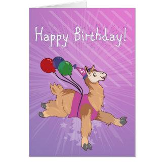 Tarjeta ¡Llama del feliz cumpleaños!