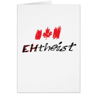 "Tarjeta ¡Llaman el ateo canadiense ""EHtheist""!"