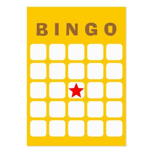 Tarjeta llana simple del bingo del amarillo 5x5 DI Tarjetas De Visita