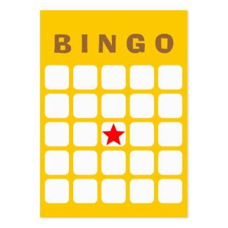 Tarjeta llana simple del bingo del amarillo 5x5 tarjetas de visita grandes