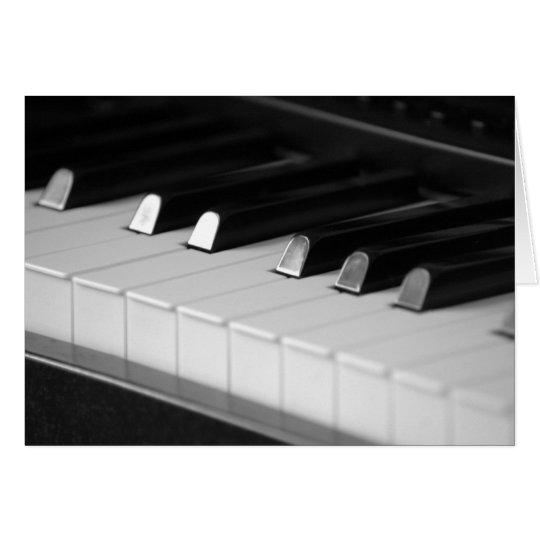 Tarjeta Llaves del piano