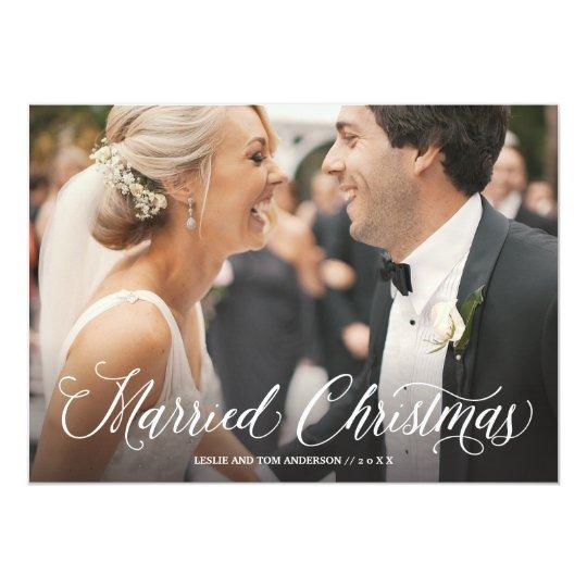 Tarjeta llena casada del día de fiesta de la foto