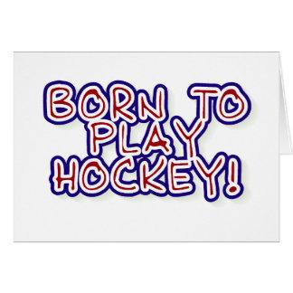 Tarjeta Llevado jugar a hockey