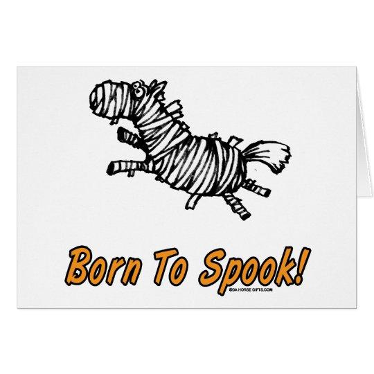 Tarjeta ¡Llevado Spook el caballo de Halloween!