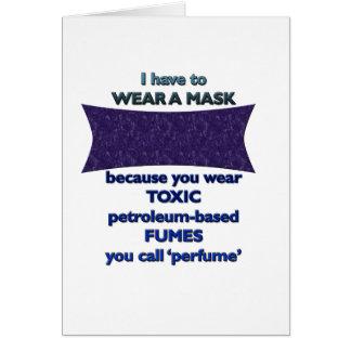 Tarjeta Llevar una máscara porque