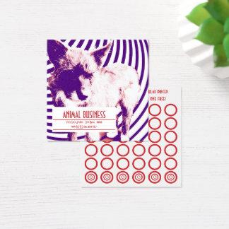 tarjeta loca del sello de los perritos del hazie