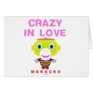 Tarjeta Loco en Mono-Morocko amor-Lindo