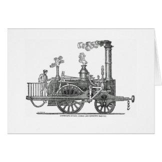 Tarjeta Locomotora de vapor temprana