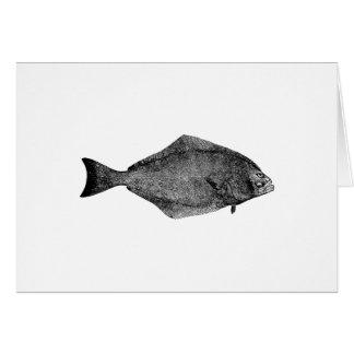 Tarjeta Logotipo del halibut pacífico