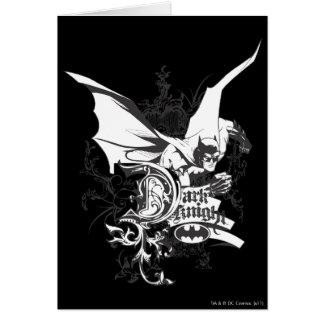 Tarjeta Logotipo oscuro del caballero detallado
