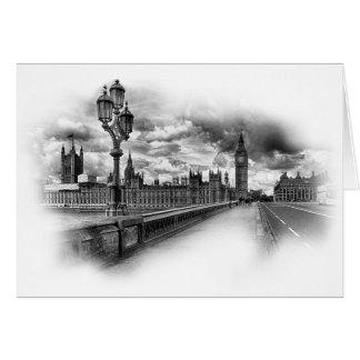Tarjeta Londres blanco y negro