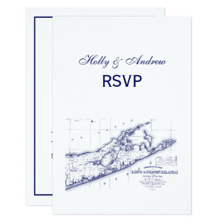 Tarjeta Long Island el mapa VC RSVP de Hamptons