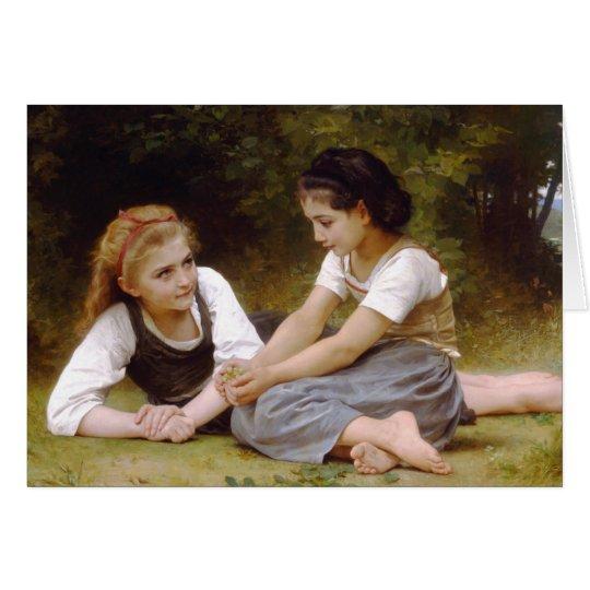 Tarjeta Los 1882 de Bouguereau los noisettes de Les de los