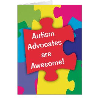 Tarjeta Los abogados del autismo son impresionantes