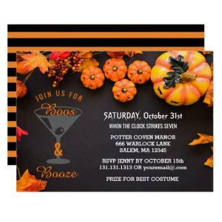 Tarjeta Los abucheos y los licores Halloween adulto van de