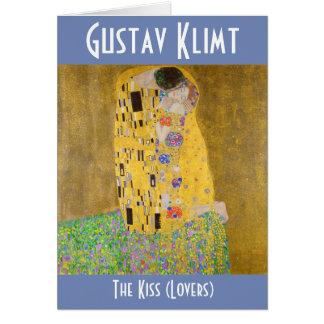 Tarjeta Los amantes del beso aka que pintan a Gustavo