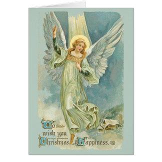 Tarjeta Los ángeles bajaron en el navidad