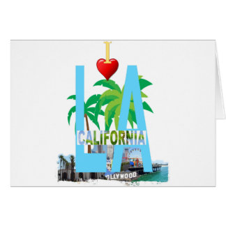 Tarjeta Los Ángeles l una ciudad los E.E.U.U. América de