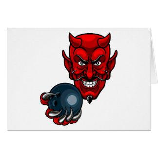 Tarjeta Los bolos del diablo se divierten la mascota