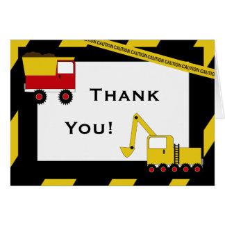 Tarjeta Los camiones de la construcción del KRW le