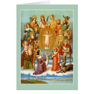 Tarjeta Los catorce ayudantes santos