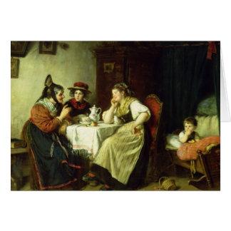 Tarjeta Los chismes, 1887