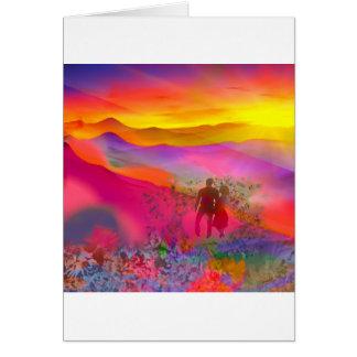 Tarjeta Los colores del arco iris muestran de una vez.